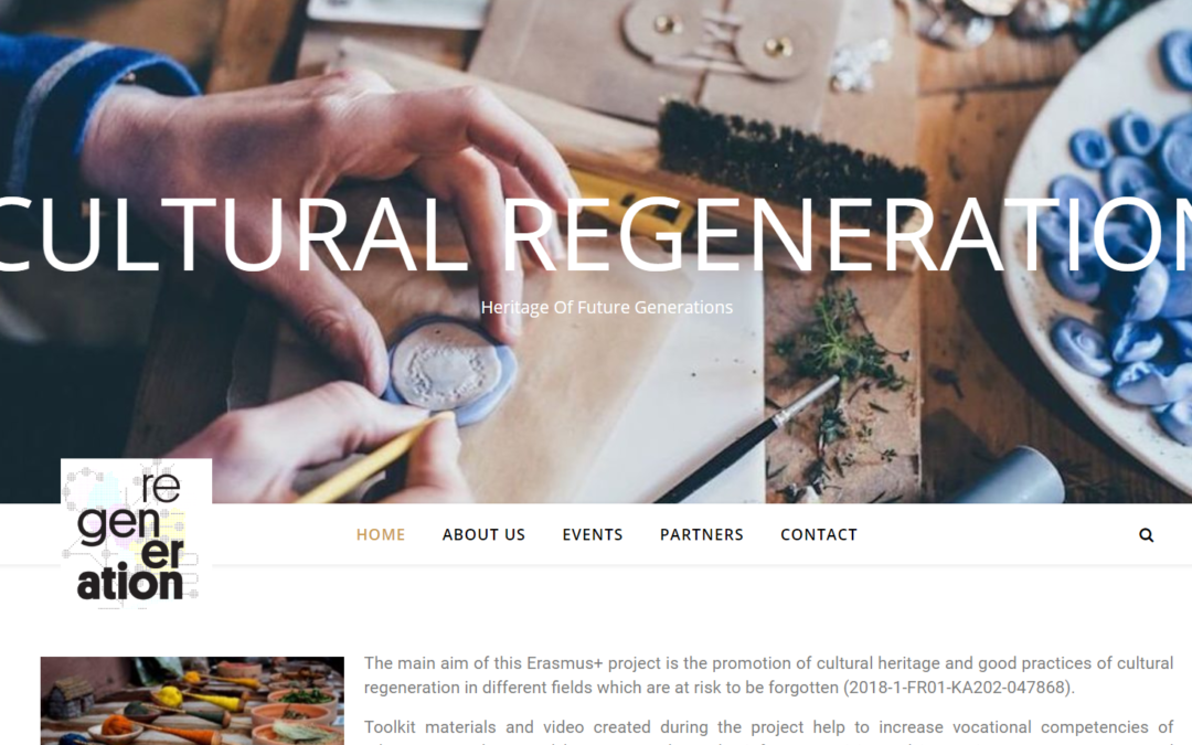 "Erasmus+ ""Cultural regeneration: heritage of future generations"""